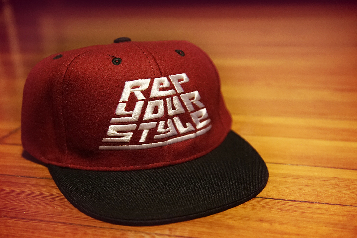 Rep Your Style Burgundy and Black Snapback